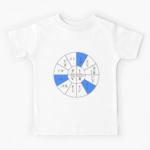 Ohm, Electric Current, Electricity, Electrical Resistance, Conductance, Electrician, Ampere, Electrical Network Kids T-Shirt