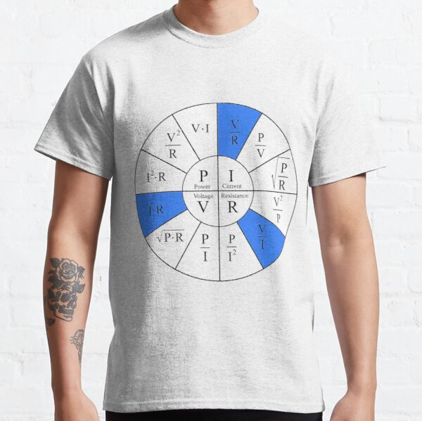 Ohm, Electric Current, Electricity, Electrical Resistance, Conductance, Electrician, Ampere, Electrical Network Classic T-Shirt