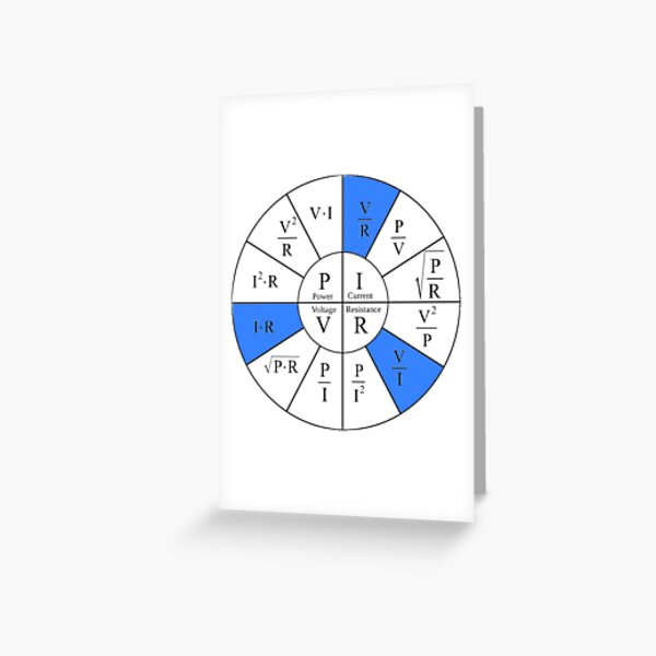 Ohm, Electric Current, Electricity, Electrical Resistance, Conductance, Electrician, Ampere, Electrical Network Greeting Card