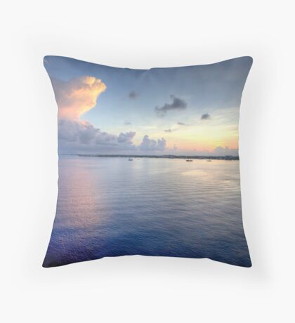 Grand Cayman HDR Sunrise Throw Pillow