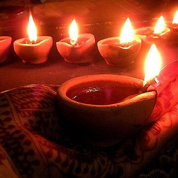 """"""" Divine diyas on Diwali """"  von amritammu"""