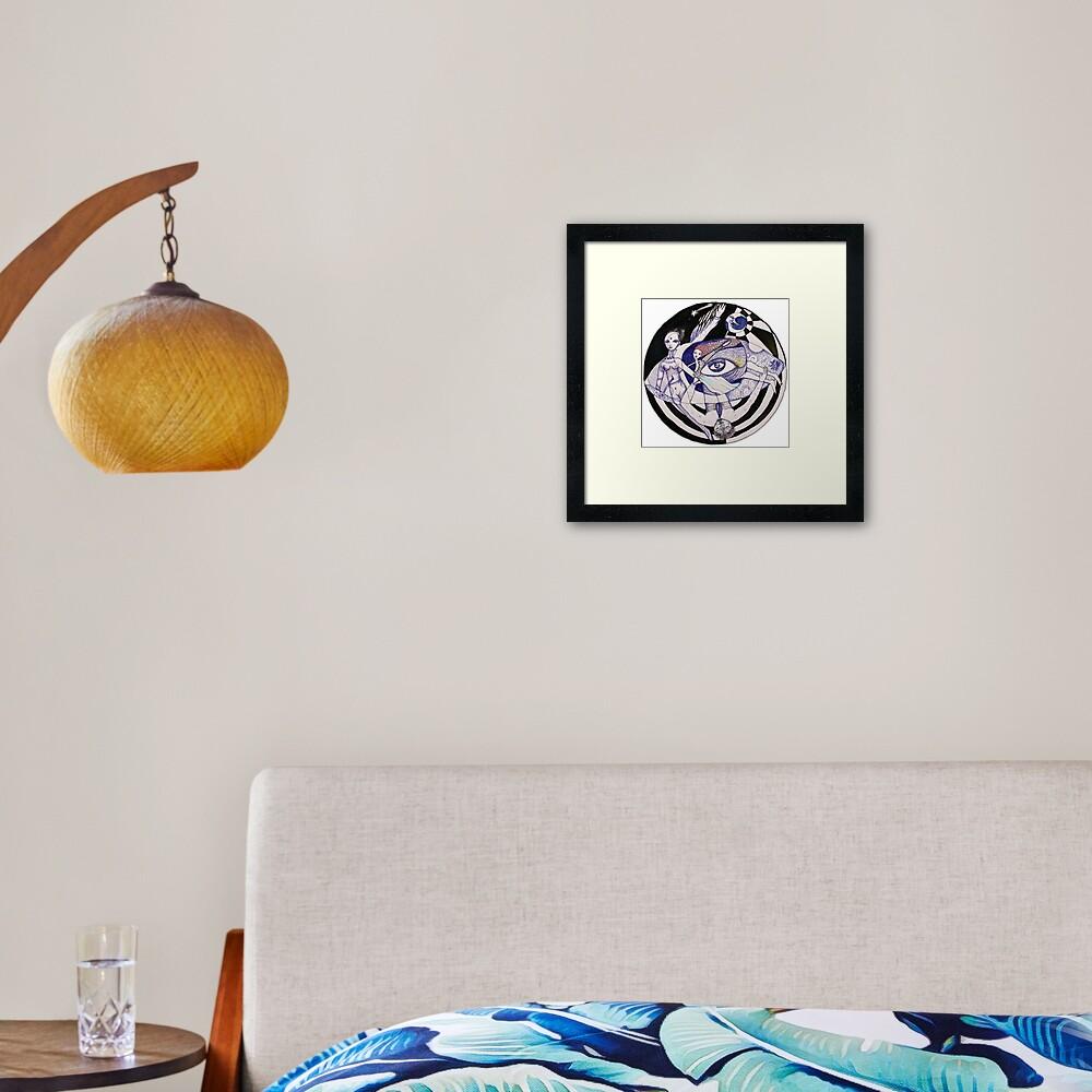 The Light Seekers Journey Framed Art Print