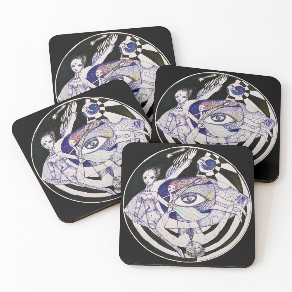 The Light Seekers Journey Coasters (Set of 4)