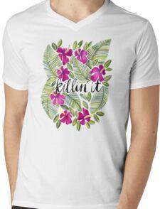 Killin' It – Tropical Pink Mens V-Neck T-Shirt
