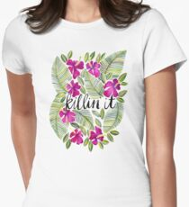 Killin' It – Tropical Pink Women's Fitted T-Shirt