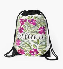 Killin' It – Tropical Pink Drawstring Bag