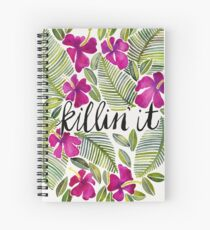 Killin' It – Tropical Pink Spiral Notebook
