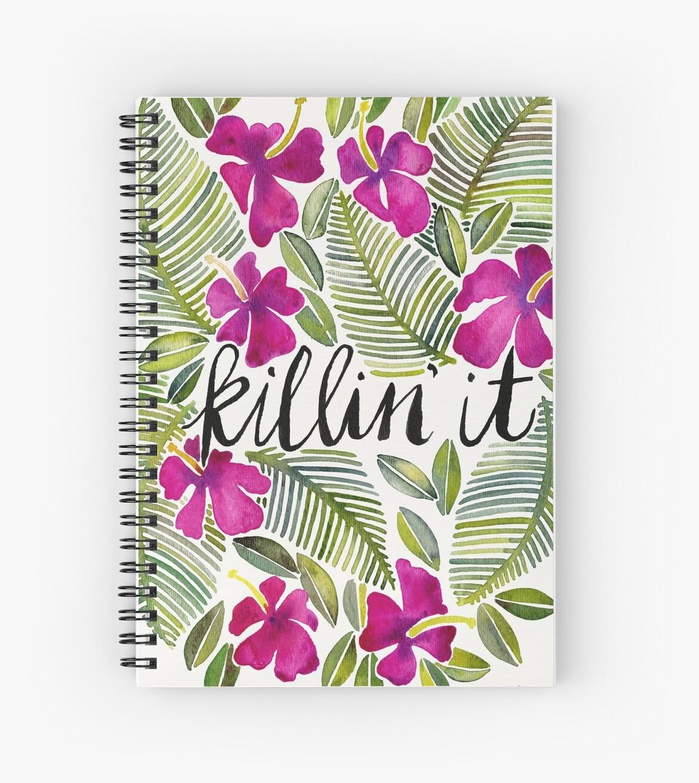 «Killin 'It - Rosa tropical» de Cat Coquillette