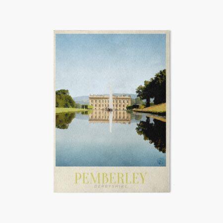 Pemberley Travel Poster Art Board Print