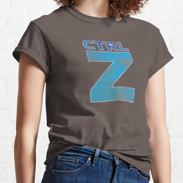 Control Plus Z - Subtle Typography & Keyboard ShortcutHumor Classic T-Shirt