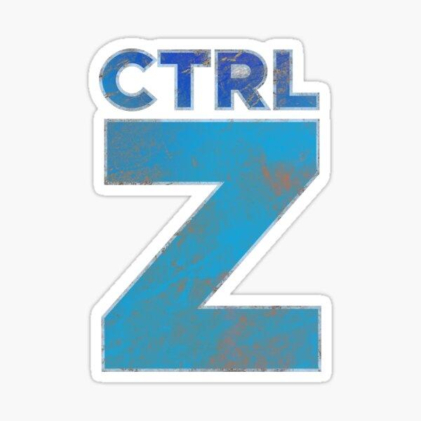 Ctrl Z Typography Sticker