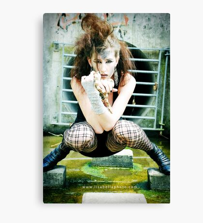 Snake Lady featuring Onix Canvas Print