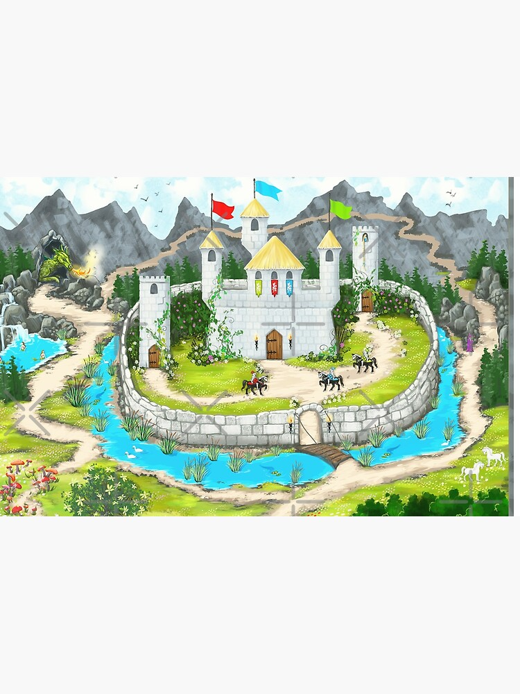 Enchanted Castle Playmat by KimMarshall