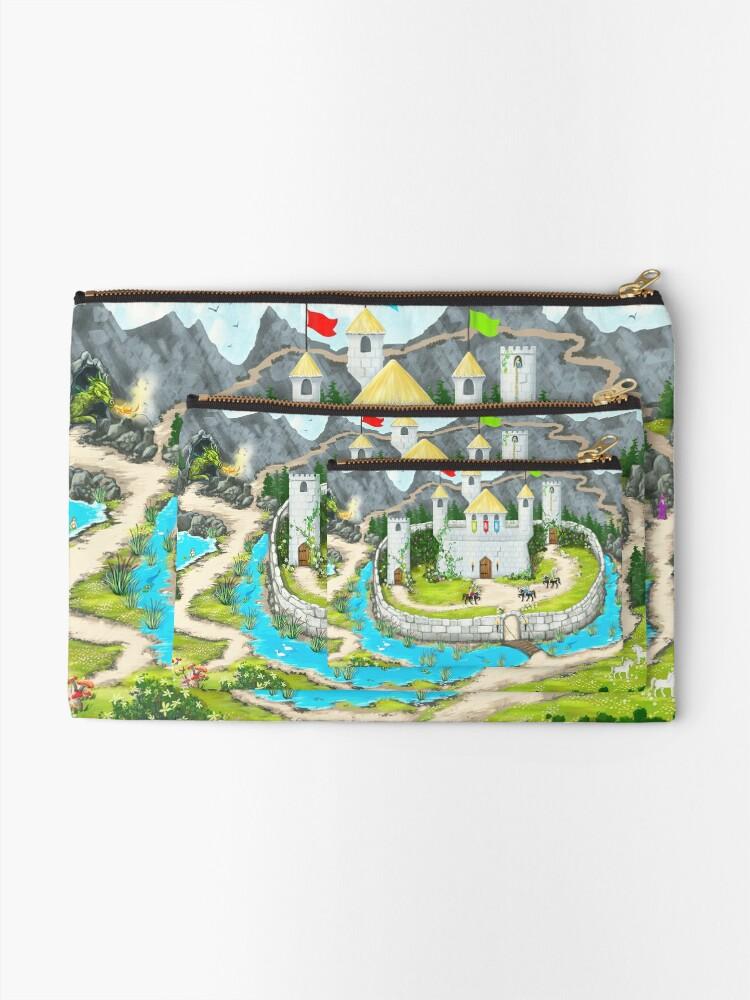 Alternate view of Enchanted Castle Playmat Zipper Pouch