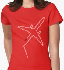 Contrails slight delay. Women's Fitted T-Shirt