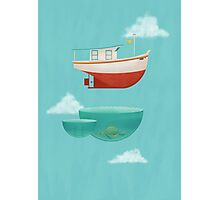 Floating Boat Photographic Print