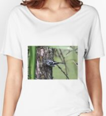 Black and White Warbler Women's Relaxed Fit T-Shirt