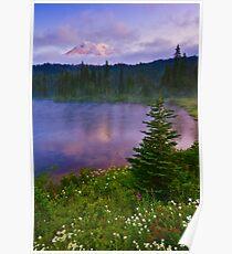 Reflection Lakes Morning Poster
