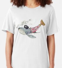Pirate Whale Slim Fit T-Shirt