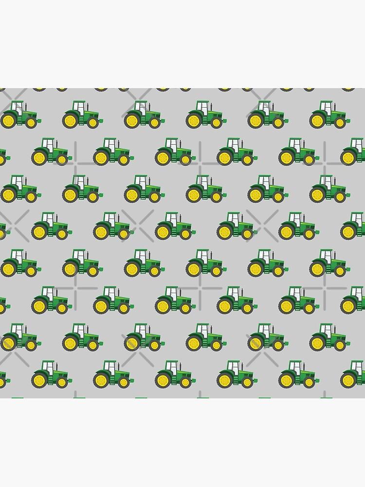 Green Tractors on Grey - Farming - Farm Themed by littlearrow