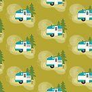 Glamper Camper - Retro Camper Illustration by Amanda Weedmark