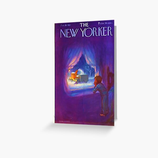 Vintage New Yorker Cover - Circa 1957-2 Greeting Card