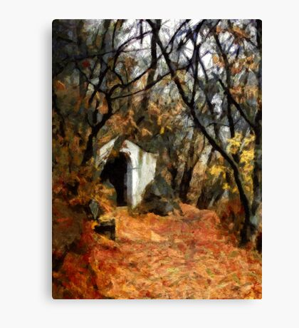 The Chapel In The Rock - Holy Hill Mikulov Canvas Print