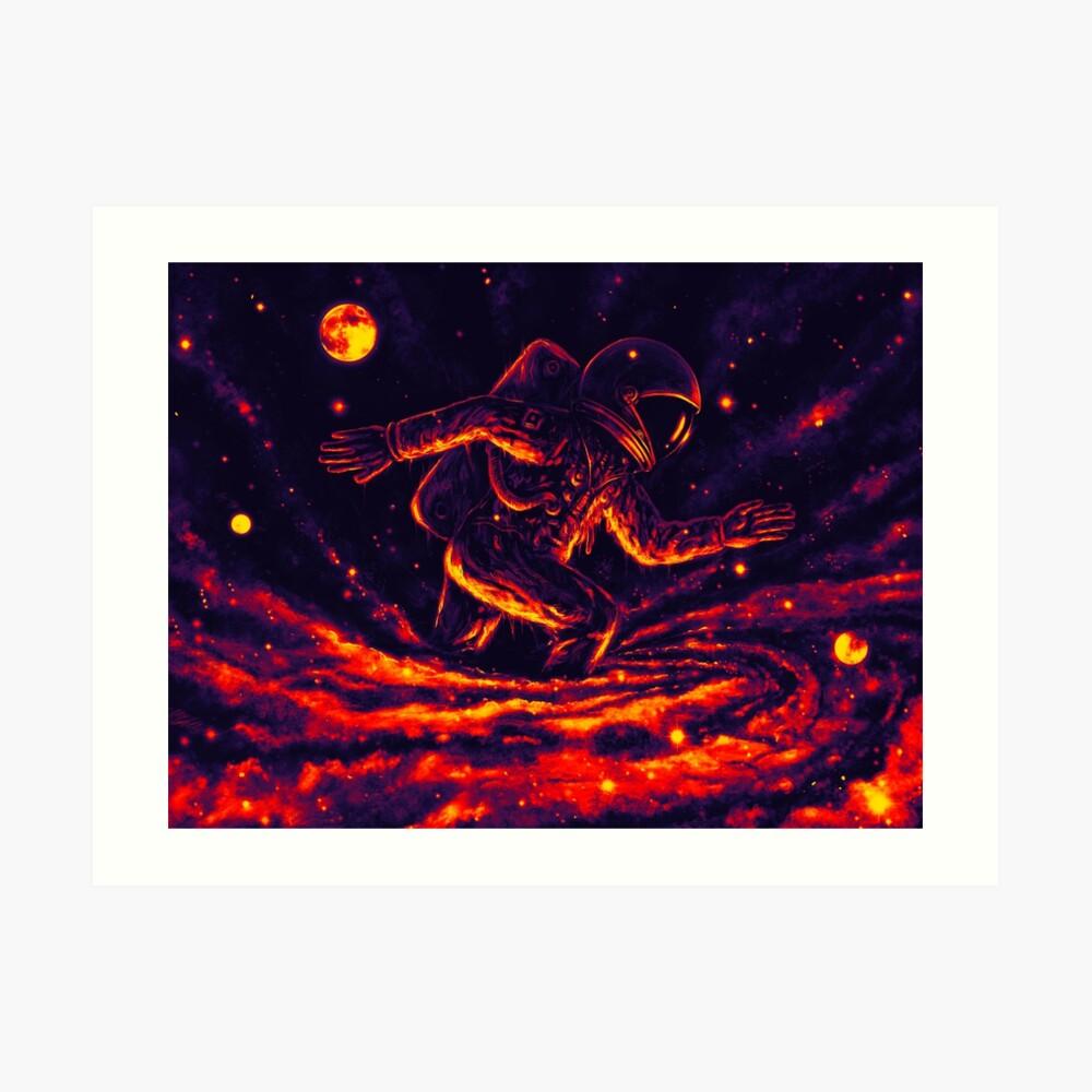 Atrapado en un agujero negro Lámina artística