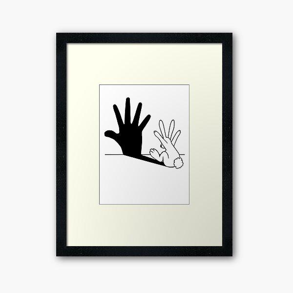 Rabbit Hand Shadow Framed Art Print