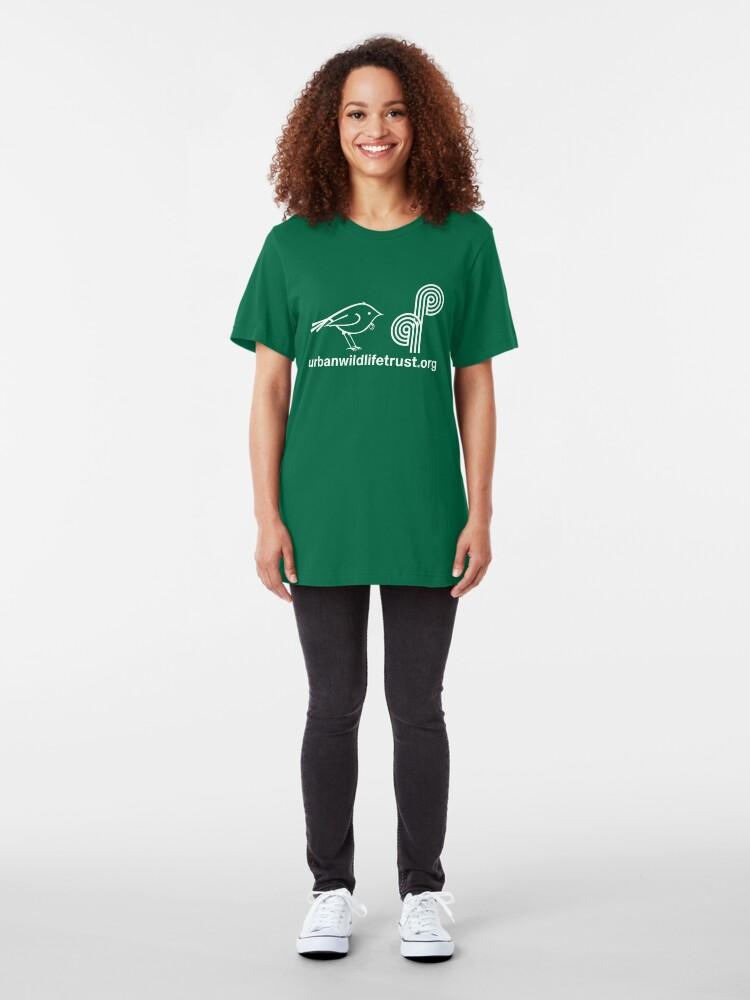Alternate view of Urban Wildlife Trust Tui ALT Logo (white) Slim Fit T-Shirt