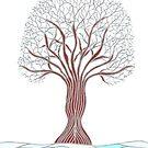 Stilisierter Winterbaum von CarolineLembke