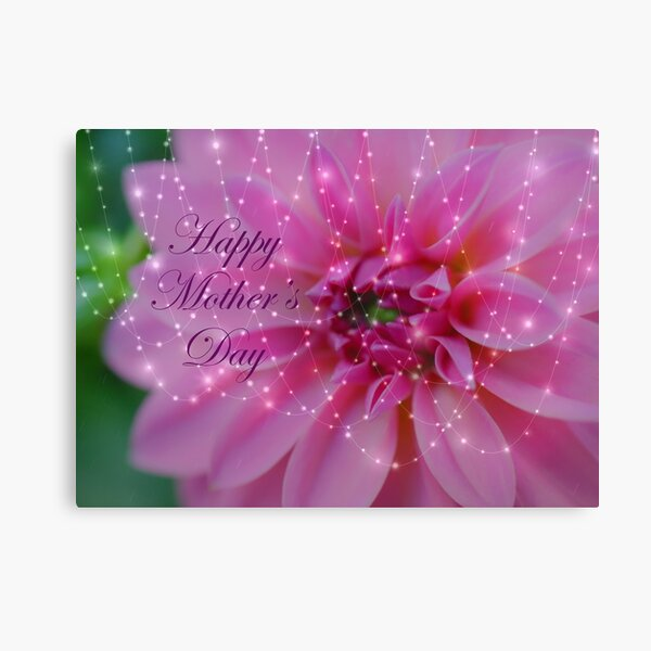 Festive And Beautiful Mothers Day Card Canvas Print