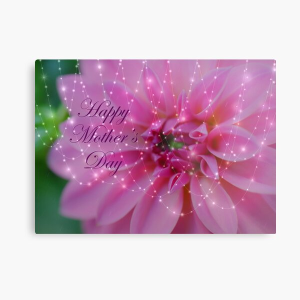 Festive And Beautiful Mothers Day Card Metal Print