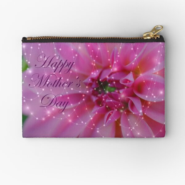 Festive And Beautiful Mothers Day Card Zipper Pouch