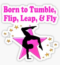 PRECIOUS PINK GYMNASTICS DESIGN Sticker