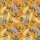 «Leopardo. Patrón amarillo tropical» de JuliaBadeeva