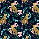 «Leopardo. Patrón azul tropical» de JuliaBadeeva