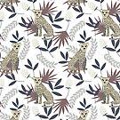 «Leopardo. Patrón tropical blanco» de JuliaBadeeva