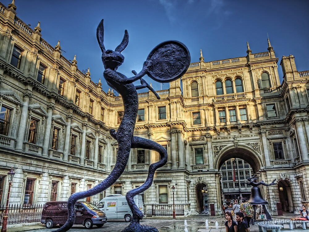 A Rabbit with a Drum - Royal Academy of Art, London by NeilAlderney