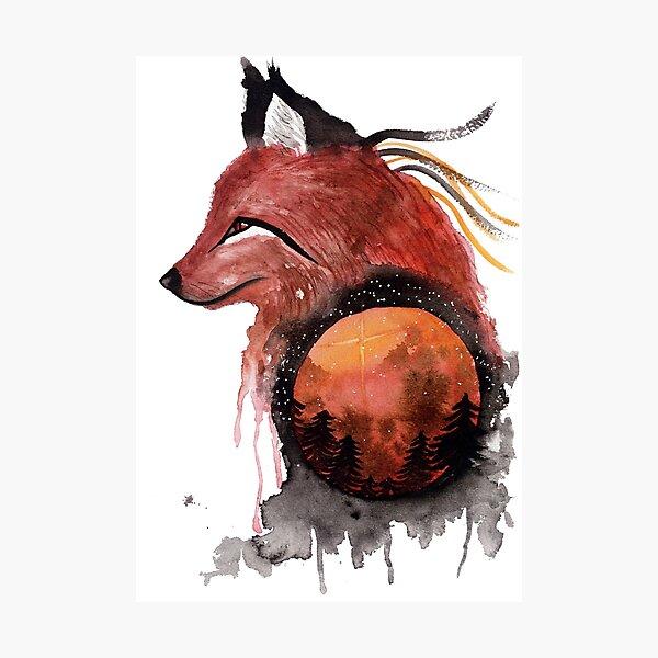 Tetrad the Bloodmoon Fox  Photographic Print