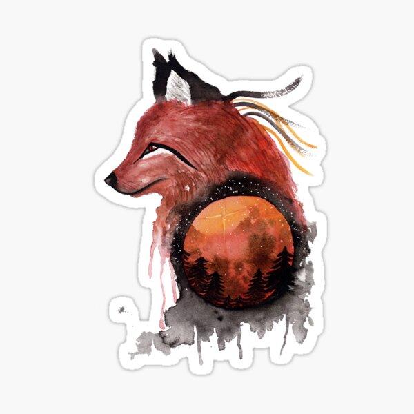 Tetrad the Bloodmoon Fox  Sticker