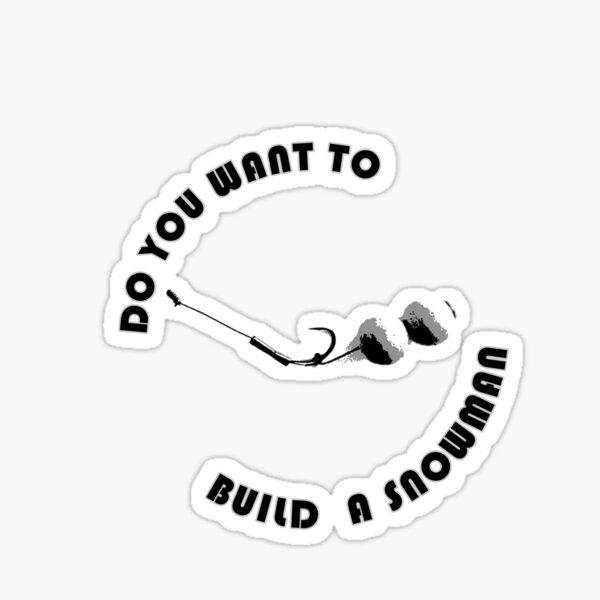 Build A Snowman Sticker