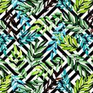«Patrón de hoja tropical» de JuliaBadeeva