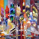 City of London Skyline Abstract Painting 800 by Eraclis Aristidou
