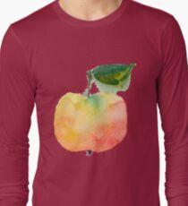 fresh useful eco-friendly apple vector illustration Long Sleeve T-Shirt