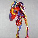 Yoga Nude Pose Painting 841 by Eraclis Aristidou