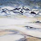 Snow Mountain by ksgfineart