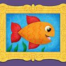 Fish in a Frame! Print by orangepeel