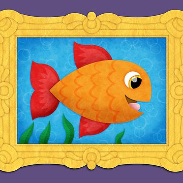Fish in a Frame! Print by orangepeel