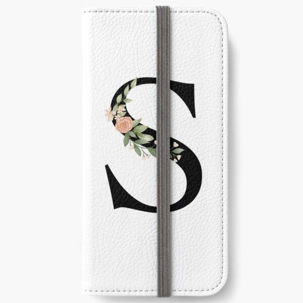 Botanical letter S iPhone Wallet